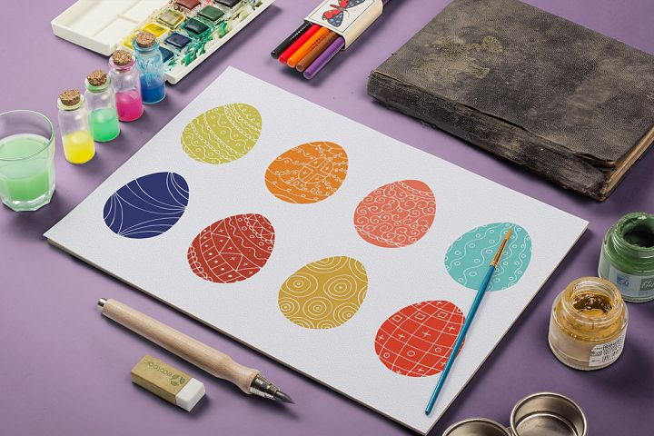 Color collection of Easter eggs. - Free Design of The Week