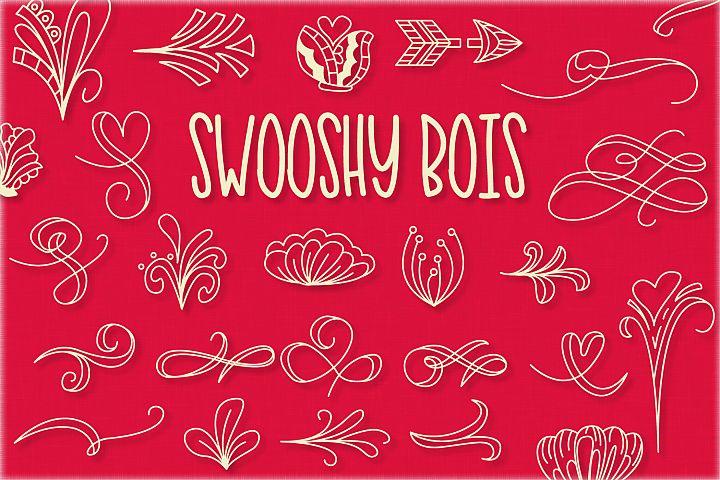 Swooshy Bois - Doodle Font