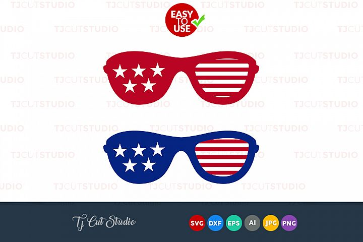 Glasses svg, fourth of july, Summer svg, Files for Silhouette Cameo or Cricut, Commercial & Personal Use.