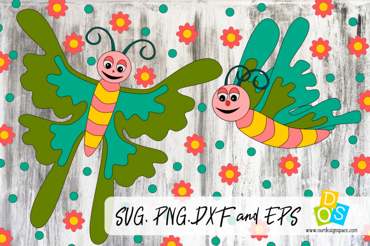 Butterflies SVG, PNG, DXF and EPS files