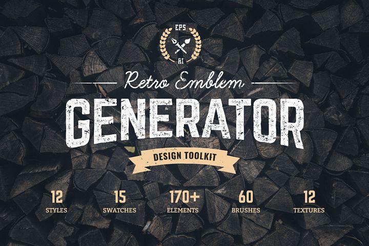 Logo Maker | Retro Emblem Generator