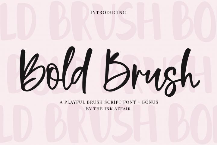 Bold Brush Font + Bonus Font