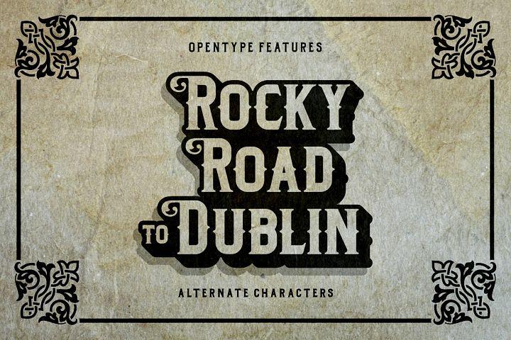 Dublin - Free Font of The Week Design 2