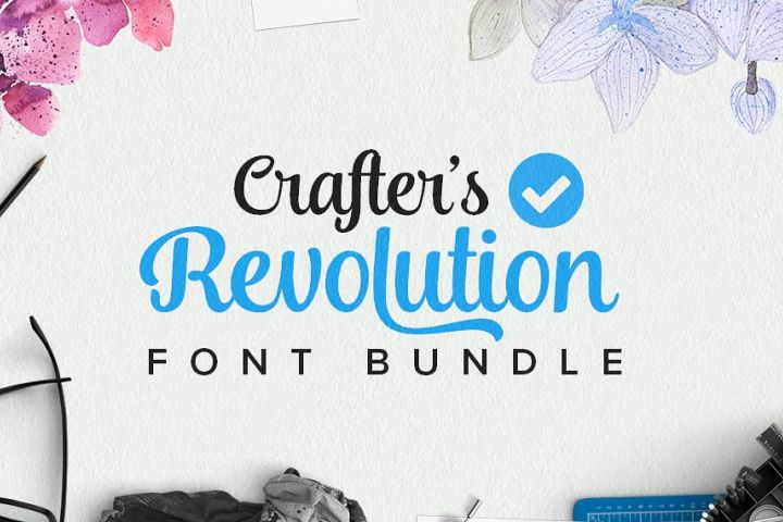 Crafters Revolution Font Bundle