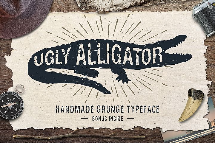 Ugly Alligator - Grunge Typeface - Free Font of The Week