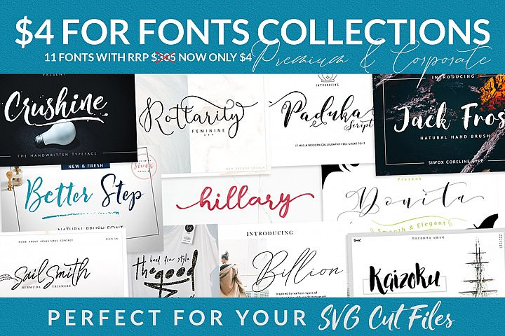 $4 For Fonts Collections (Limited Time)
