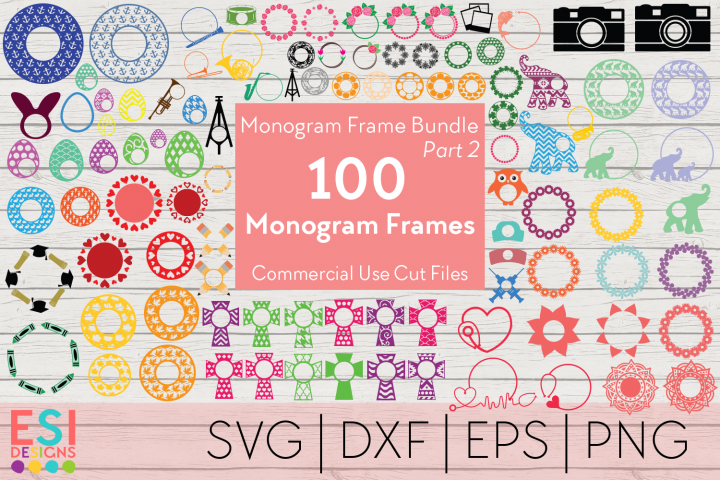 Monogram Frame Bundle Part 2 | 100 Frames for Monogramming.