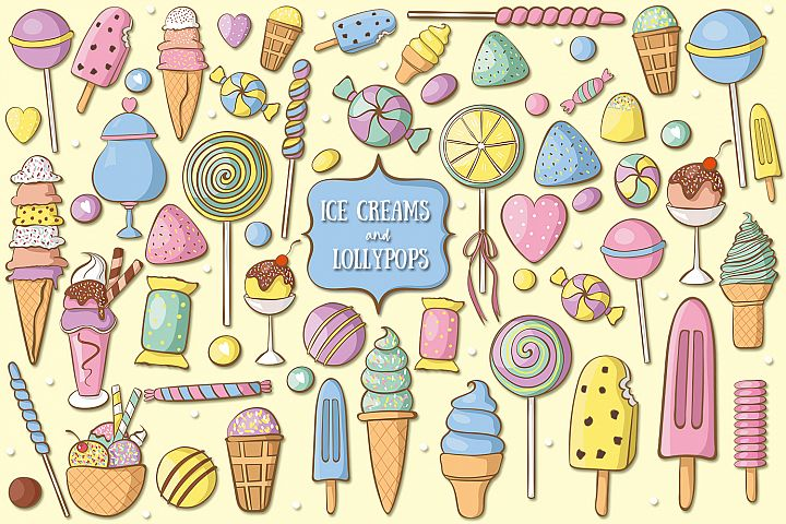 Ice Creams And Lollypops