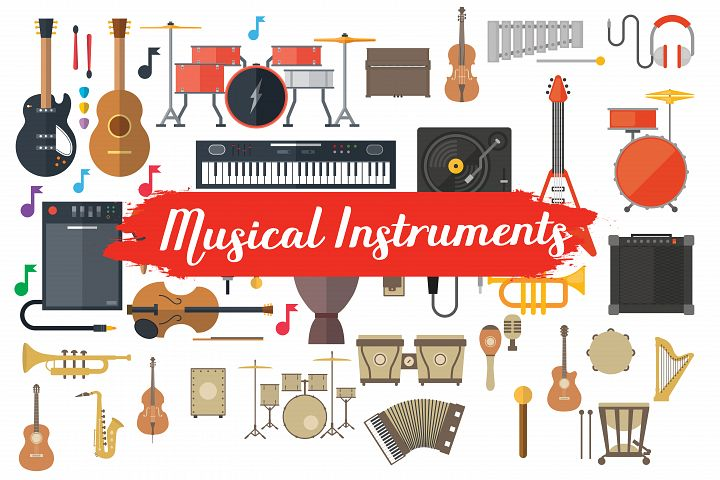 musical instruments,musical instuments clipart,musical instruments illustration,musical instruments elements