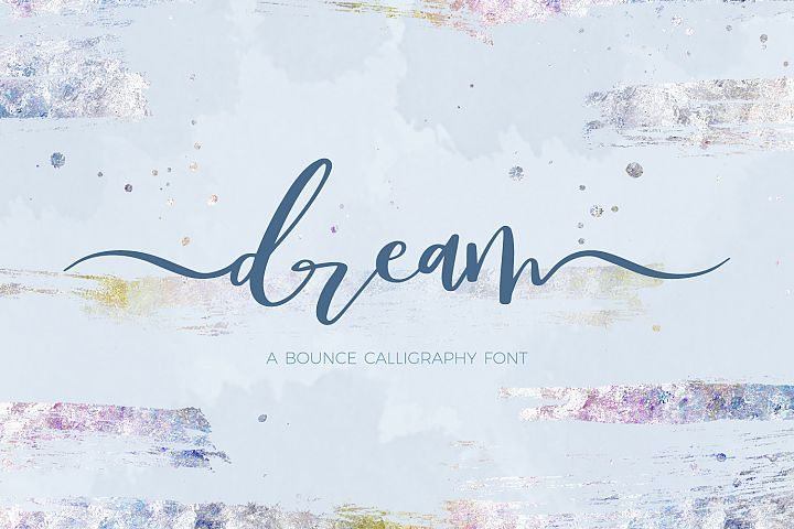 Dream Bounce Calligraphy Font