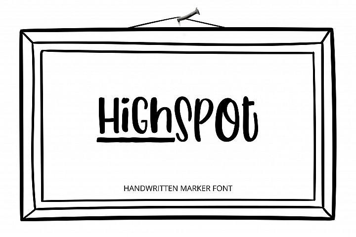 HighSpot Font