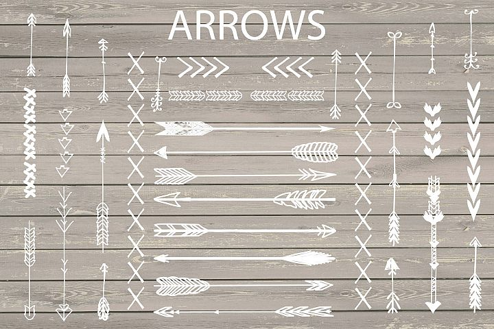 VECTOR Hand Drawn arrows clip arts