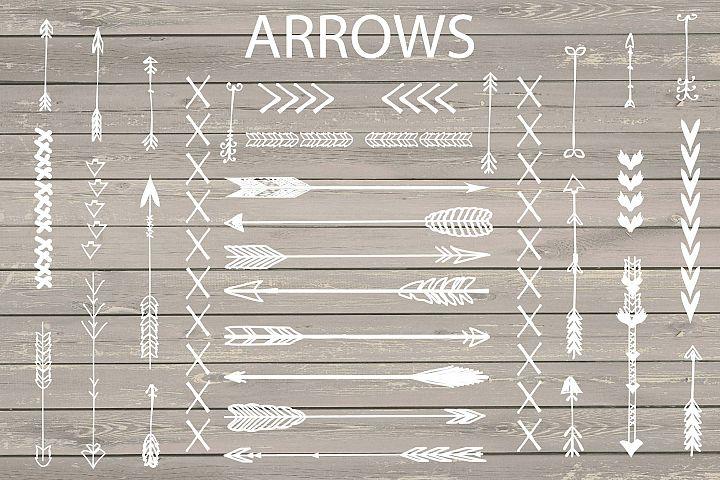 VECTOR Hand Drawn arrows clip arts