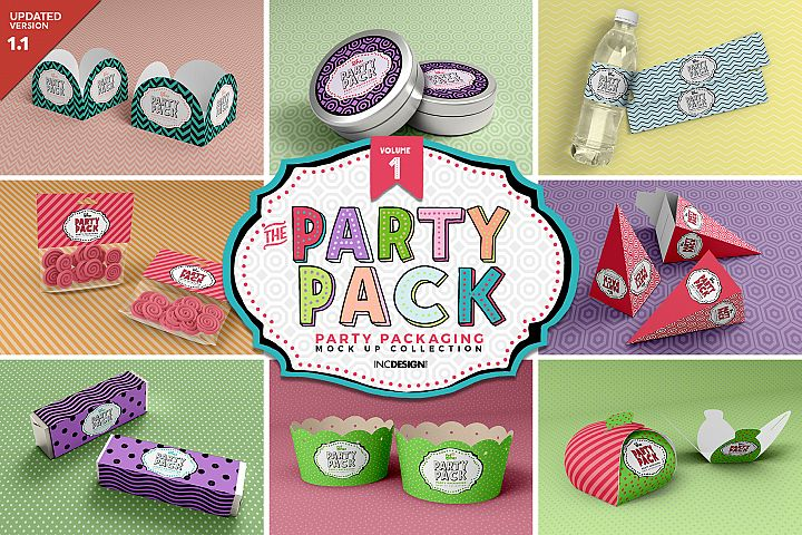 The Party Pack Mockup Collection VOLUME 1