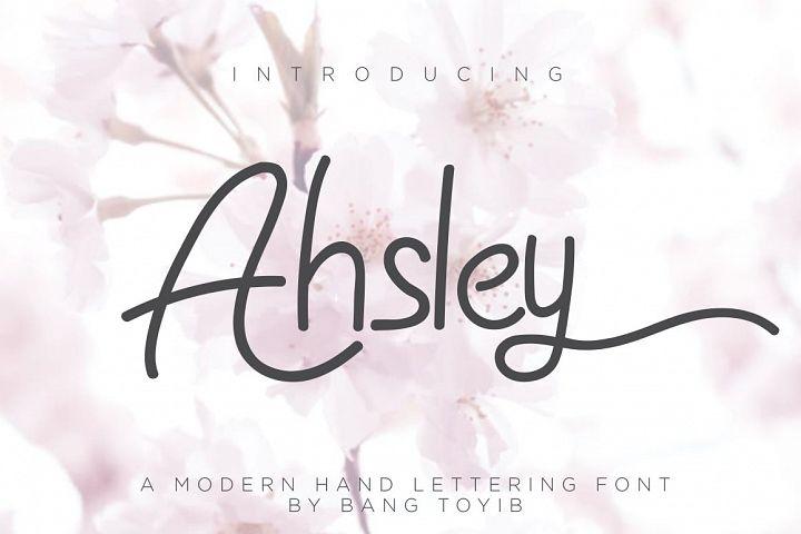 Ahsley - Beautiful Font