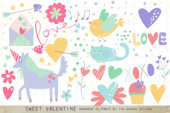 Sweet Valentine Cliparts