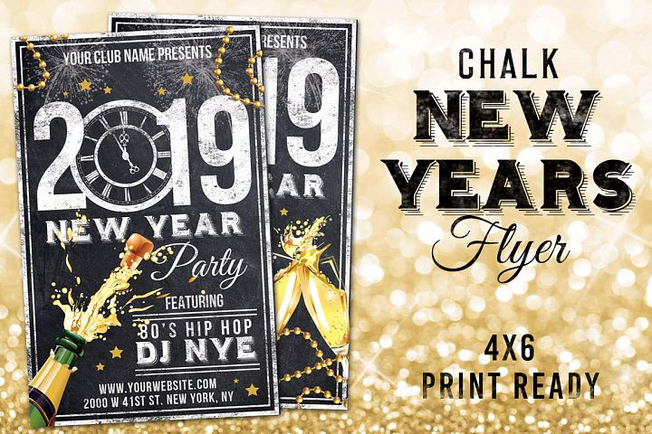 Chalk New Years Eve Flyer