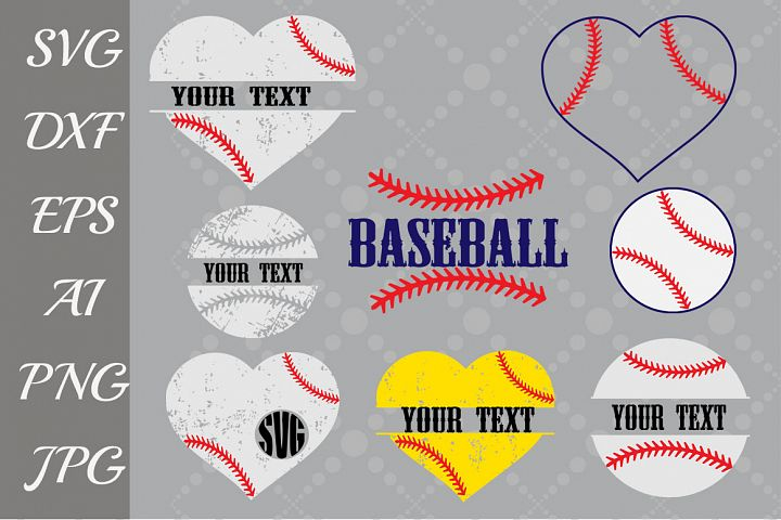 Baseball Monogram Svg