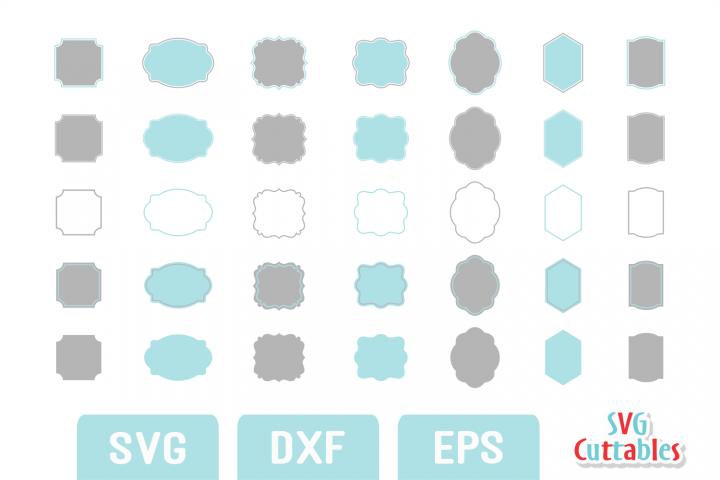 Frames SVG - Labels SVG set B