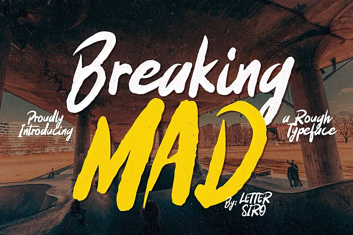 Breaking Mad Font