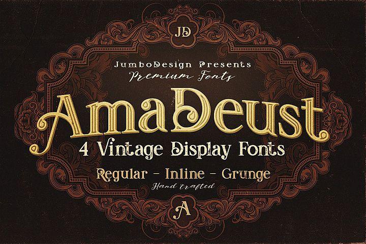 AmaDeust - Display Font