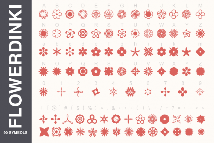Symbols Font Collection - 450 Elements - Free Font of The Week Design 1
