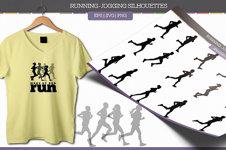Jogging Silhouettes