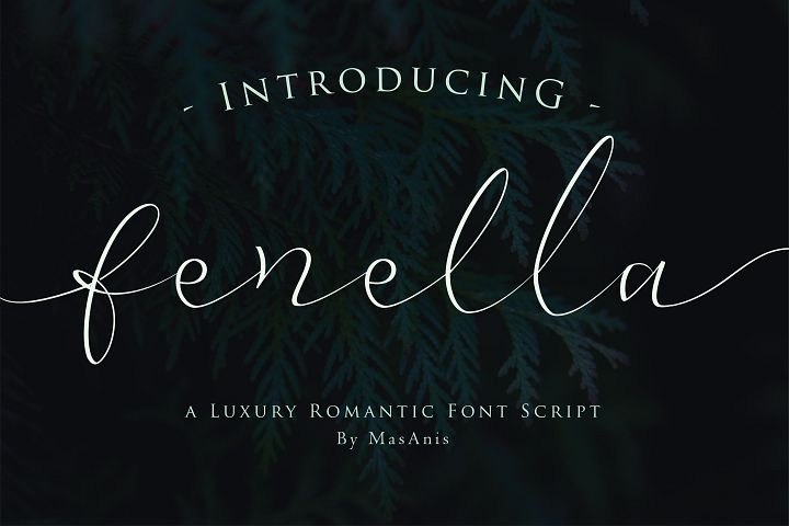 Fenella - Luxury Romantic Font
