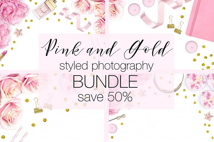 Pink and Gold Stock Photography Bundle