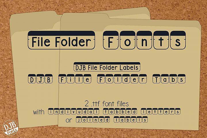 DJB File Folder Fonts