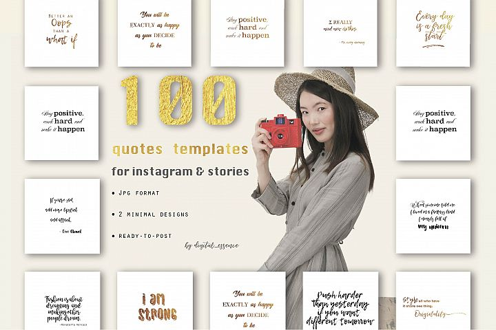 100 quotes templates for social media content