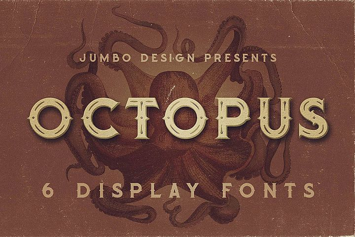 Octopus - Vintage Style Font