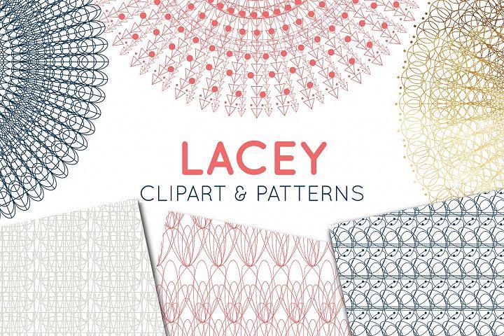 Lace Clipart, Lace Border & Patterns