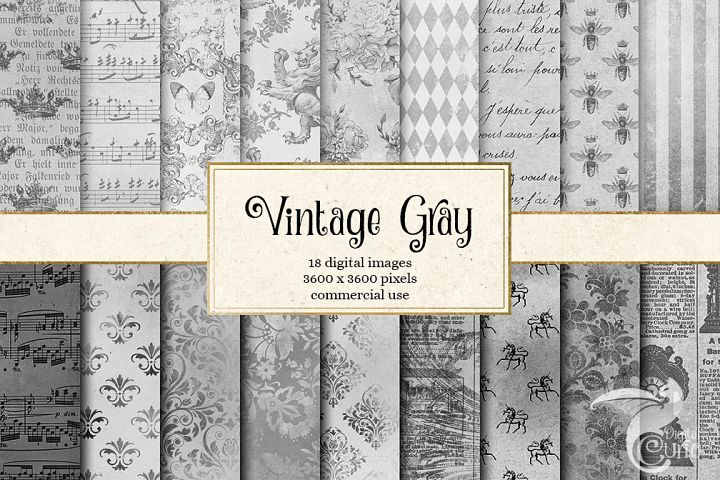 Vintage Gray Digital Paper