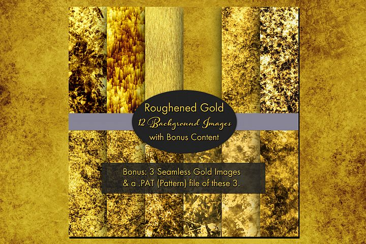 Roughened Gold - 12 Background Images with Bonus Content