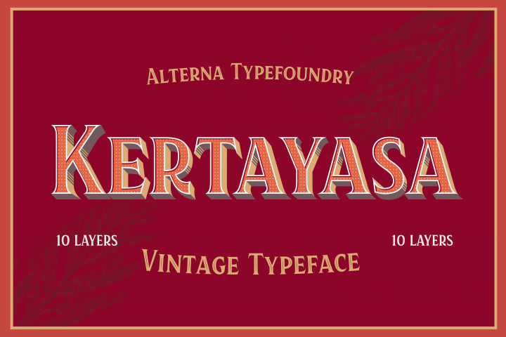 Kertayasa Layered Typeface 60% OFF