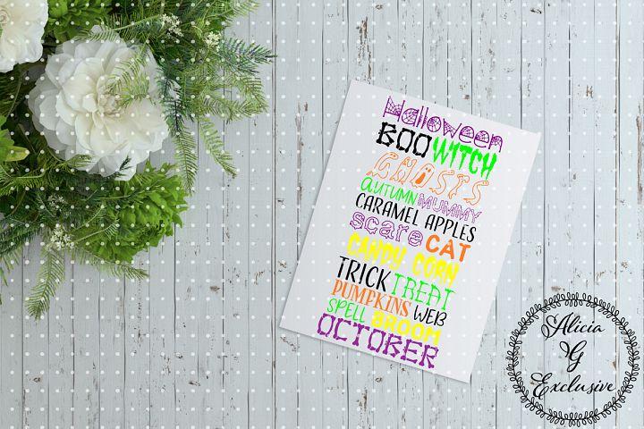 Halloween Word Collage