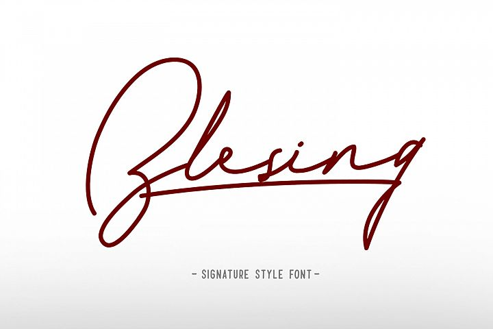 Blesing signature style