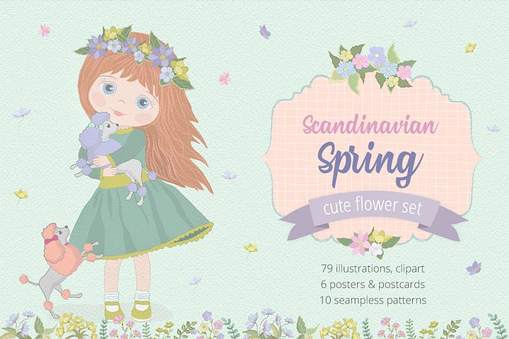 Scandinavian Spring Illustrations