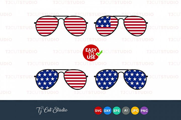 Glasses svg, 4th of july svg, Summer svg, Files for Silhouette Cameo or Cricut, Commercial & Personal Use.