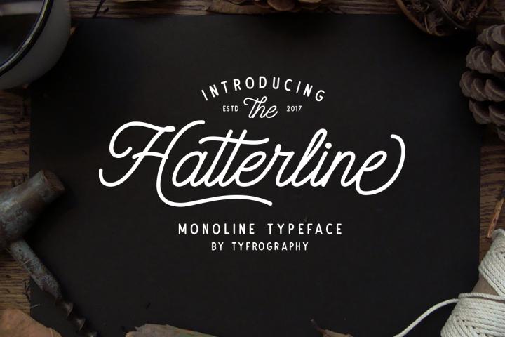 Hatterline Font + Sans