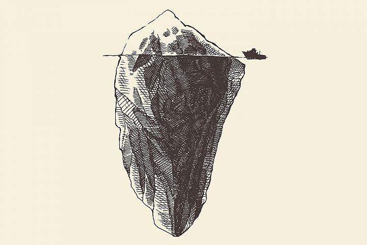 Iceberg with ship