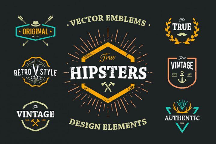 True Hipster Vector Set