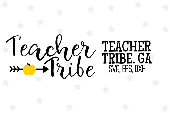Teacher Tribe SVG File, Golden Apple