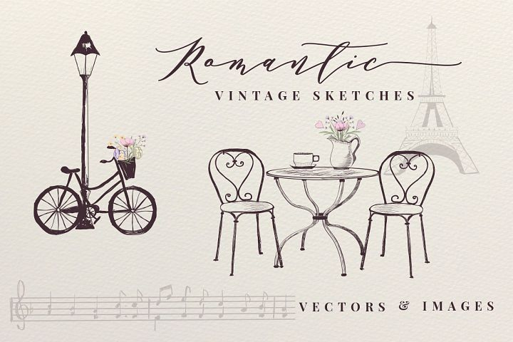 Romantic Vintage Sketches