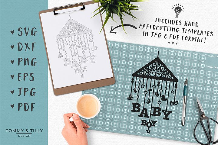 Baby Mobile Bundle - SVG DXF PNG EPS JPG PDF Cutting File example 4