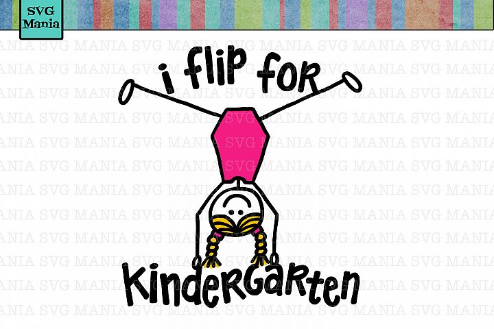 SVG Kindergarten, Back to School SVG File, First Day School