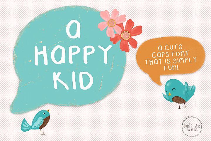 A Happy Kid, Caps Font