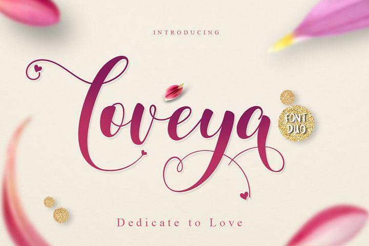 Loveya Script (Font Duo + Extras)