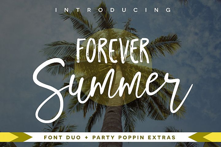 Forever Summer Font Duo + Extras